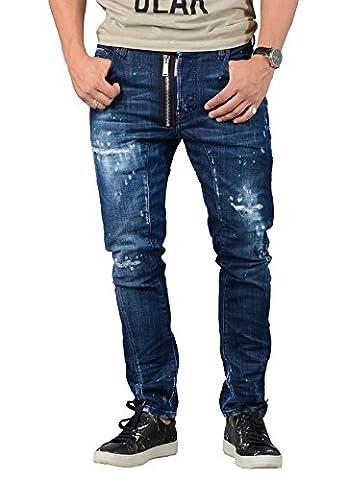 DSQUARED2 Jeans Homme, Tidy Biker Jean - Bleu - S71LB0326