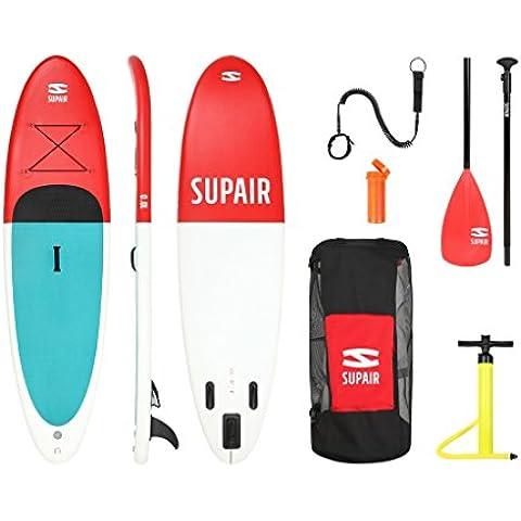 Supair 10'0–SUP inflable STAND UP PADDLE BOARD Juego completo + correa (Fibra de vidrio pala + bomba + bolsa + desmontable Fin)