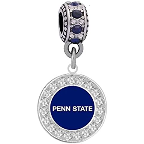 Penn State University Charm Fits Most Bracelet Lines Including Pandora, Brighton, Chamilia, Troll, Biagi, Zable, Kera, Personality, Reflections, Silverado and More ... by Final Touch Gifts