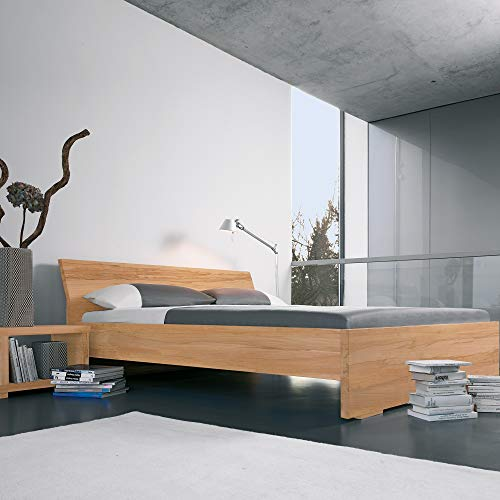 Dormiente Massivholzbett Adana - 160x200 cm - Nussbaum