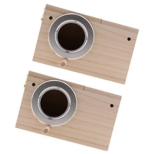 LOVIVER 2X Solid Wood Budgie Nistkasten / Nistkästen Für Wellensittiche, Vögel