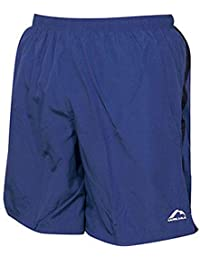 MORE MILE MENS 7 INCH BAGGY RUNNING FITNESS SHORTS BLUE BLACK