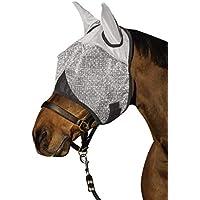 Kerbl, 324516, Maschera antimosche con protezione per le orecchie e protezione UV, Bianco, Cob