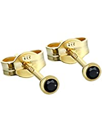 Single Ohrstecker Gold 333er 2,50mm türkis Zirkonia Damen Herren Kinder 5791