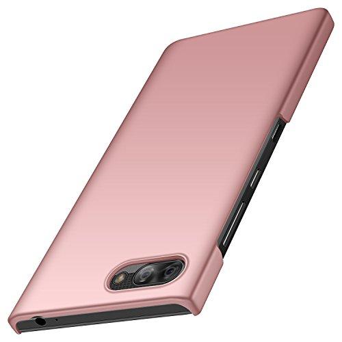 anccer BlackBerry Key2 LE Hülle, [Serie Matte] Elastische Schockabsorption und Ultra Thin Design für BlackBerry Key2 LE (Glattes Rosen-Gold)