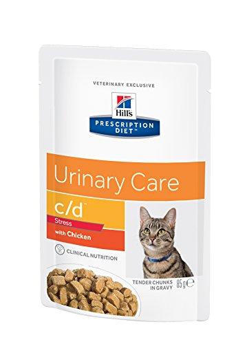 Prescription Diet C/D Feline Urinary Stress Mangime Umido Pollo - Confezione da 12 x 85 g