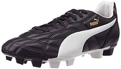 Puma Men's Classico FG Black, White and Puma Gold Football Boots - 6 UK/India (39 EU)