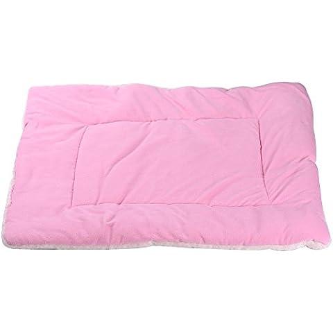 Pet Pad Mat ,Cajón Pequeño gato grande del perrito del perro de la jaula de la perrera Cama Casa Soft Cozy color Pink ,Tamaño: 70*55*3cm(L)