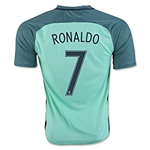 2016 2017 UEFA Euro Cup Portugal 7 Cristiano Ronaldo Away National Football Soccer Jersey in in blau