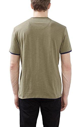 edc by ESPRIT Herren T-Shirt 027cc2k011 Grün (Khaki Green 350)