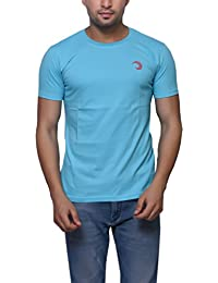 Sky Blue Cotton Round Neck T-Shirt For Men's/Boy's Half Sleeves Tees Casual Tshirt By Oneliner Clothing