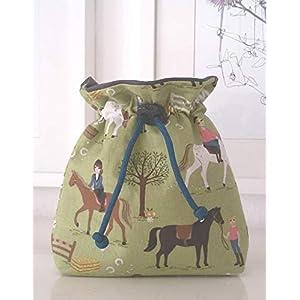 Futterbeutel Futtertasche Leckerlibeutel grün Pferde Handarbeit