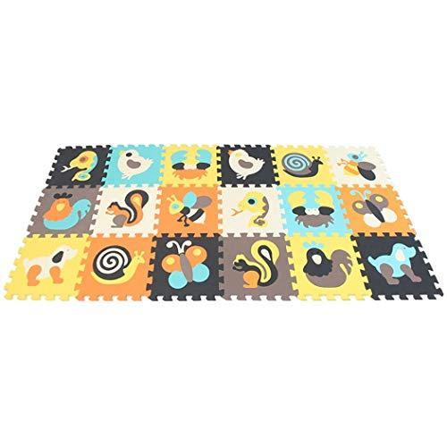 Jigsaws Kinderspiele Mat-Soft EVA Baby Krabbeldecken Puzzle Board Portable Faltschaum Spielfliesen Interlocking Spielmatte 18St (Board Portable Puzzle)