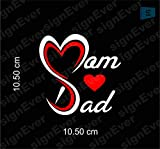 signEver Tank Side Meeter Back Mom Love Dad Bike Sticker for Scooter Fascino