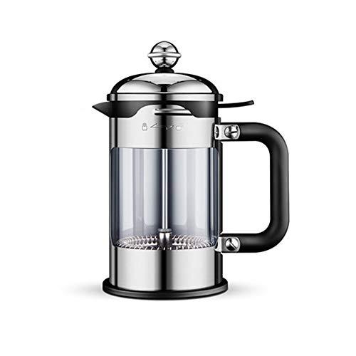 Manuelle Kaffeekanne Haushalt Filter Topf 304 Edelstahl Hand Schlag Druck Topf Filter Tasse Tee,Silver