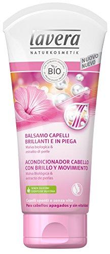 Lavera Après-Shampooing pour Cheveux avec Gloss et mouvement - Mauve biologique et extraits de perles - Cosmétiques naturels 100% certifié - Soin du Cheveux - 4 boîtes de 200 ml