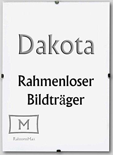 Dakota Rahmenloser Bildhalter Cliprahmen 33 x 98 cm 98 x 33 cm mit Acrylglas und Paket-Sonderpreise
