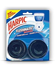 Harpic Flushmatic Twin In-Cistern Toilet Cleaner (Aquamarine) - 100 g