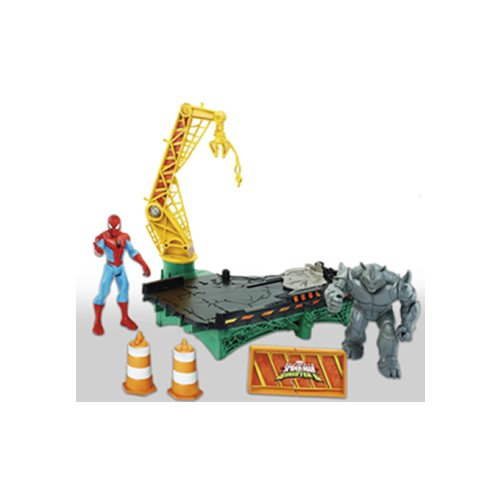 Spiderman - Set Spider-Man, Web City Rhino Playset