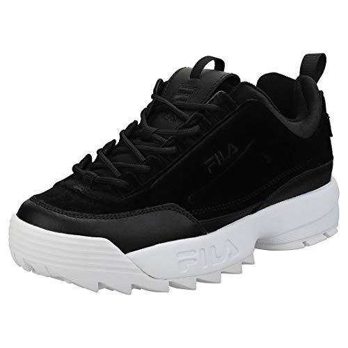 Sneaker Fila Fila Disruptor II Premium Velour Mujer Zapatillas Negro