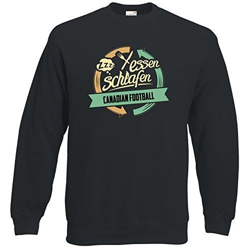 getshirts - RAHMENLOS® Geschenke - Sweatshirt - Sport Canadian Football - schwarz XXXL (Schwarz Canadian Football)