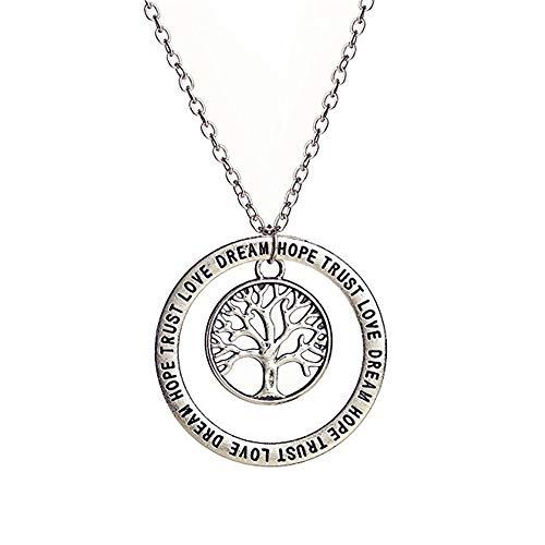 nd amerikanische Lebensbaum Elefant Freundschaft Anhänger englische Maxim Halskette, Baum des Lebens ()