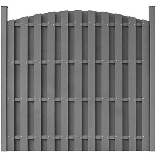 *vidaXL WPC Gartenzaun Windschutz Zaun Sichtschutzzaun mit Pfostenträger rund*