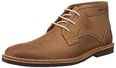 Red Tape Men s Tan Leather Chukka Boots - 6 UK India (40 EU)  Buy ... c38ab604603