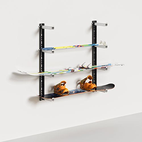 certificada de pared, deposito Snowboard, estantes de pared, estantería para mesole garaje, portabicicletas. Carga Máxima 100kg