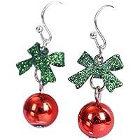 Demarkt 1 par Pendientes Santa Claus Amantes Moda Mujer Elegante Joyas de Navidad Accesorios de Joyería para Lady Girl Merry Christmas