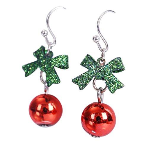 Leisial™ 1 Paar Mode Dame Ohrringe Weihnachtsball Ohrringe Kreativ Weihnachten Ohrringe Weihnachten Dekoration