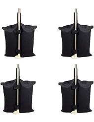 Grado Industrial Heavy Duty bolsa de pesos con doble costura, pierna pesos para Pop Up carpa peso bolsas de arena bolsa de pies al aire libre bolsa Negro.