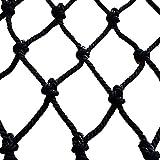 Rete di protezione Rete Decorativa Nera, Rete Di Sicurezza For Bambini Balcone Ringhiera For Scale Recinzione Rete Protettiva Parco Giochi Arrampicata Rete In Nylon Soffitto Rete Sospesa Foto Muro Gia
