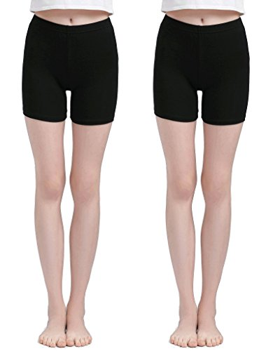 Vinconie Women Short Leggings Under Skirt Pants Yoga Tights Boy Shorts 2 Pack