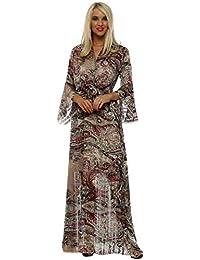 8b0a48370df Troiska Burgundy Paisley Wrap Maxi Dress