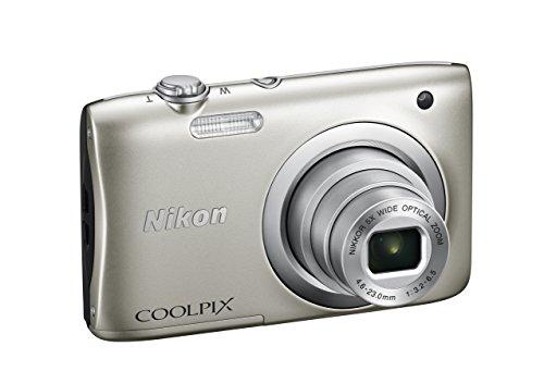 Nikon coolpix a100 fotocamera digitale compatta, 20.1 mpx, zoom 5x, hd, argento [nital card: 4 anni di garanzia]