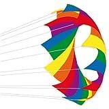 Windrad - F-Stop rainbow - für leichten bis kräftigen Wind - Durchmesser: 200cm - inkl. 10m Ankerseil mit Mega-Kugellagerwirbel
