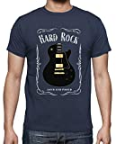 latostadora - Camiseta Hard Rock para Hombre Denim L