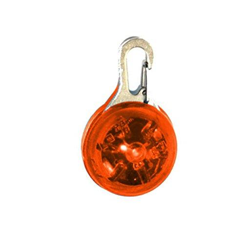 (LAAT Safe Leuchtanhänger LED Hunde Leuchtanhänger Sicherheits Clip-On LED Licht Anhänger Halskette für Läufer Jogger Fahrradfahrer Tiere wie Hunde Hund Katze Haustier Zubehör (Orange))