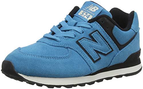 New Balance Unisex-Kinder 574v2 Sneaker, Blau (North Sea/Black Melange), 33 EU -