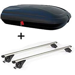 VDPBA320 Coffre de Toit verrouillable 320 l + Barres de Toit VDPKING1 Compatible avec Kia Cee'D (EU/JD) Sportswagon (5 Portes) à partir de 12