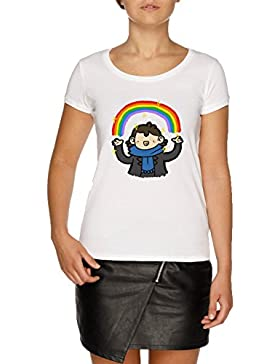 Jergley Murder Rainbow Camiseta Blanco Mujer | Women's White T-Shirt