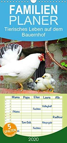 Tierisches Leben auf dem Bauernhof 2020 - Familienplaner hoch (Wandkalender 2020 , 21 cm x 45 cm, hoch): Glückliche Tiere auf dem Bauernhof (Monatskalender, 14 Seiten ) (CALVENDO Tiere)