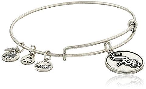 Alex and Ani Chicago White Sox Cap Logo Expandable Rafaelian Silver Bangle Bracelet