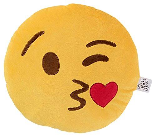 Love Bomb Cushions 0001Kissen, zwinkerndes Kuss-Emoji