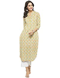 Varanga Yellow Printed Kurta KFF-VAR1181121