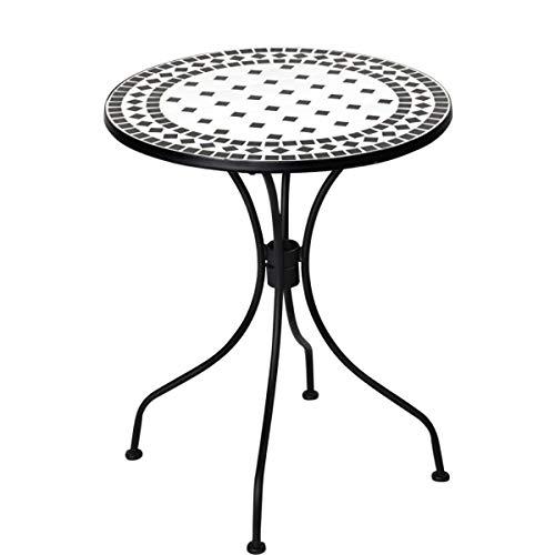 Butlers PALAZZO Bistrotisch - Balkon-Tisch - Garten-Tisch - italienisch - Mosaiksteine - rund - Eisen - Höhe 73 cm, Ø 60 cm