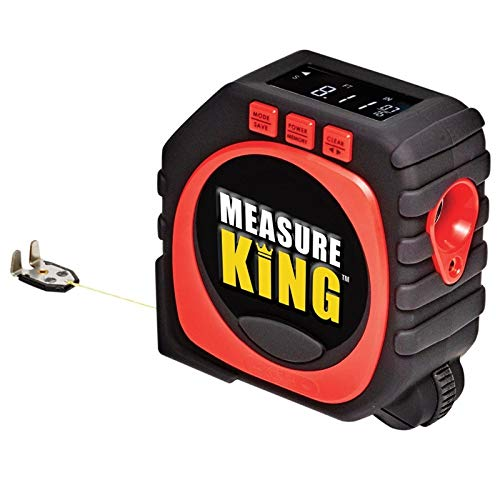 EbuyChX Measure King 3-IN-1 Digital Tape String Mode Sonic Roller Laser Tool Black