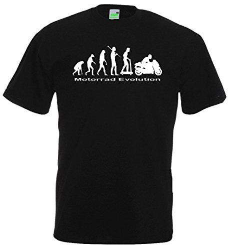 Motorrad Evolution T-Shirt | Motorbike Moto Race Biker Speed | Premiumshirt von Bimaxx® Schwarz
