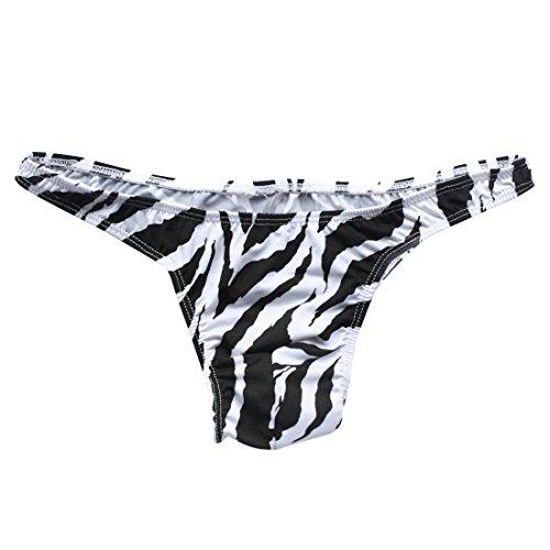 YiZYiF Sexy Männer Zebra G-String T-back Herren Slips Briefs Unterwäsche Bikini Hosen Zebra Shorts Einheitsgröße (Taille (Sexy Halloween Boxer Kostüme)